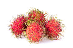 Rambutan isolated on white background.  Stock Image