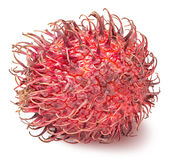 Rambutan isolated on the white background. With clipping path Stock Photography