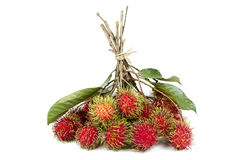 Rambutan  isolated on white background. Fresh rambutan  isolated on white background Stock Images