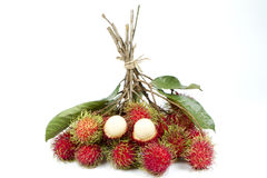 Rambutan  isolated on white background. Fresh rambutan  isolated on white background Royalty Free Stock Photos