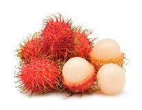 Rambutan isolated on white background. Fresh rambutan isolated on white background Stock Image