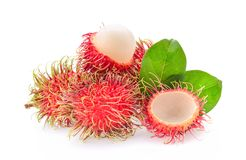 Fresh rambutan isolated on the white background. Rambutan isolated on the white background Stock Photos