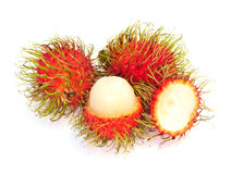 Rambutan isolated on white background Stock Photos