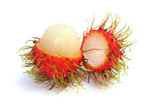 Rambutan isolated on white background Royalty Free Stock Image