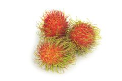 Rambutan isolated on white background.  Royalty Free Stock Photo