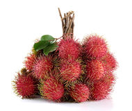 Rambutan isolated on white background. Rambutan isolated on white background Stock Images