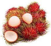 Rambutan isolated on the white background . Rambutan isolated on the white background fruit Stock Photography