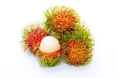 Rambutan isolated on white background. Rambutan sweet delicious fruit isolated on white background Royalty Free Stock Photography