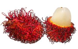 Rambutan isolated on the white. Background Royalty Free Stock Images