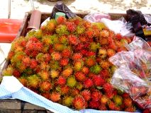 Rambutan, lychee, litchi stock afbeeldingen