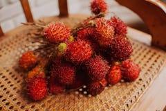 Rambutan - mooi zoet exotisch fruit Stock Afbeeldingen