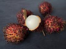 Rambutan Nepehlium-lappaceum Stockfotografie