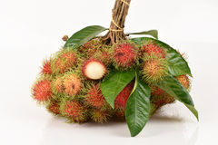 Rambutan (Nephelium lappaceum Linn.). Is a tropical fruit with a sweet taste of Thailand Royalty Free Stock Image