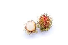 Rambutan no fundo branco Foto de Stock