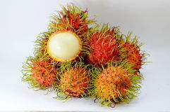 Rambutan peel out Royalty Free Stock Photography