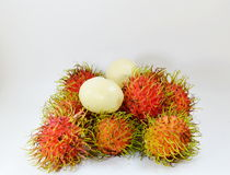 Rambutan peel out Royalty Free Stock Photo