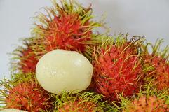 Rambutan peel out Royalty Free Stock Images