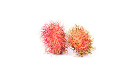 Rambutan Premium sweet delicious fruit of Thailand ,isolated on. White background Stock Photos