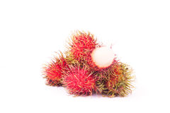 Rambutan Premium sweet delicious fruit of Thailand ,isolated on. White background Royalty Free Stock Images