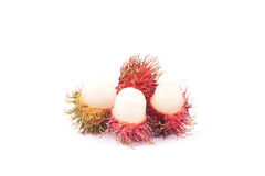 Rambutan Premium sweet delicious fruit of Thailand ,isolated on. White background Royalty Free Stock Image
