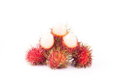 Rambutan Premium sweet delicious fruit of Thailand ,isolated on. White background Stock Photo