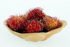 Rambutan - Rambutan för tropiska frukter Royaltyfri Bild