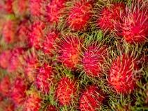 Rambutan. Sweet Delicious Fresh Summer Fruit Background Royalty Free Stock Photo