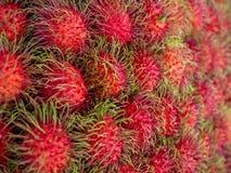 Rambutan. Sweet Delicious Fresh Summer Fruit Background Royalty Free Stock Photos