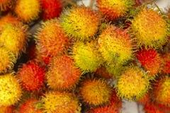 Rambutan red ripe berries fruit Royalty Free Stock Photo