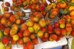 Rambutan red ripe berries fruit Stock Images