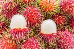 Rambutan. Red Rambutan , Tropical fruits  from Thailand Stock Photos