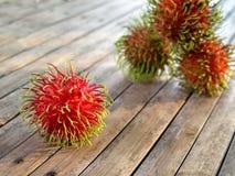 Rambutan rosso Fotografia Stock