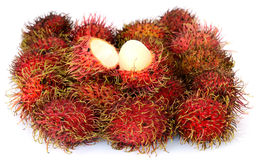 Rambutan stack Royalty Free Stock Images