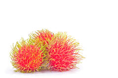 Rambutan sweet delicious on  background healthy rambutan tropical fruit food isolated Stock Image