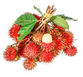 Rambutan sweet delicious fruit. Isolated on white background Royalty Free Stock Photography
