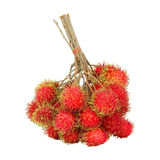 Rambutan sweet delicious fruit isolated on white. Background Stock Images