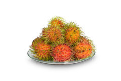 Rambutan. Sweet delicious fruit isolated on white background Stock Images