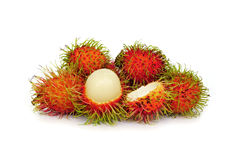 Rambutan sweet delicious fruit isolated. On white background Royalty Free Stock Photography