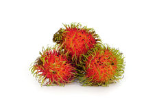 Rambutan sweet delicious fruit isolated. On white background Stock Photo