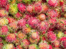 Rambutan sweet delicious fruit. In the market Stock Images