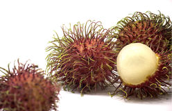 Rambutan sweet delicious fruit. On white background for review Stock Photos