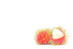 Rambutan sweet delicious on white background healthy rambutan tropical fruit food isolated Royalty Free Stock Photography