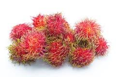 Rambutan sweet fruit  on white background Stock Photography