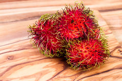 Rambutan a sweet tropical fruit Royalty Free Stock Images