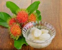 Rambutan in syrup Royalty Free Stock Photo