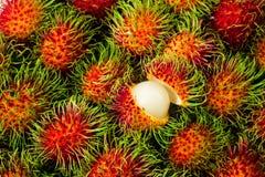 Rambutan tailandese NESSUN 06 fotografia stock
