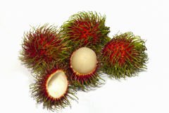 Rambutan taste cinnabar sweet fruit. In Thailand Stock Images