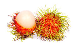 Rambutan Thai fruit. Thai Fruit Rambutan isolate on white blackground Royalty Free Stock Photos