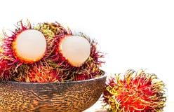 Rambutan, Thai fruit. Rambutan, Negrito, Semang, sweet Thai fruit Stock Photography