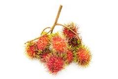 Rambutan, Thai fruit. Rambutan, Negrito, Semang, sweet Thai fruit . isolated on white background Stock Photo